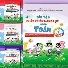 Combo 4 Cuốn Bài Tập Phát Triển Năng Lực Học Sinh Môn Toán và Tiếng Việt Lớp 1 Tập 1 + Tập 2