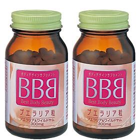 Combo 2 hộp viên uống nở ngực BBB Orihiro Best Body Beauty Nhật Bản 75g hộp 300 viên