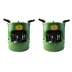 2x Handy Outdoor Diesel Stove Kerosene Burner Picnic 10 Wicks Hiking Burner