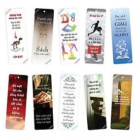 Bộ 10 Bookmark song ngữ truyền cảm hứng đọc sách