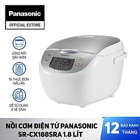 Nồi cơm điện tử Panasonic SR-CX188SRA 1.8 lít - Hàng chính hãng