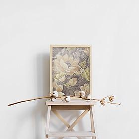 Tranh canvas treo tường họa tiết hoa hiện đại - HC001