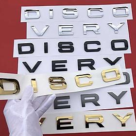 Logo Chữ Dán Discovery Ô tô - 3 Màu Để Bạn Lựa Chọn