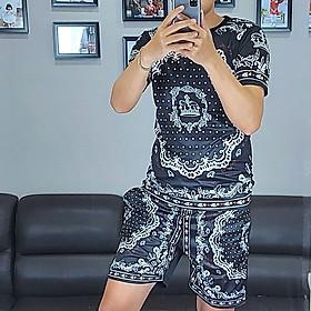 Bộ quần áo nam vải thun,bộ thể thao,bộ mặc nhà nam in họa tiết 3D-13