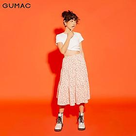 Chân váy nữ thiết kế họa tiết nhún VA1236 GUMAC
