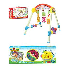 Combo đồ chơi kệ Ngôi nhà tuổi thơ có nhạc và bộ xúc xắc Fun for Baby