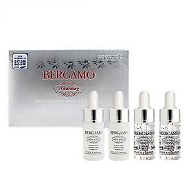 Serum Bergamo Snow White & Vita White Whitening bộ 4 ống (hộp trắng)