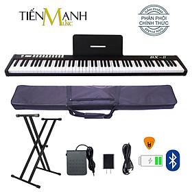 Đàn Piano Điện Bora BX-II - Đàn, Chân, Bao, Nguồn 88 Phím nặng Cảm ứng lực BX2 - Kèm Móng Gẩy DreamMaker BX-02 (Kết nối máy tính và điện thoại, Bluetooth, Pin sạc, Loa lớn)