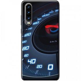 Ốp lưng dành cho Huawei P30 mẫu Đồng hồ tốc độ xanh