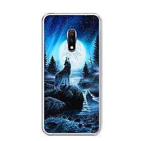 Ốp lưng dẻo cho điện thoại Realme X - 0485 Wolf04 - Hàng Chính Hãng