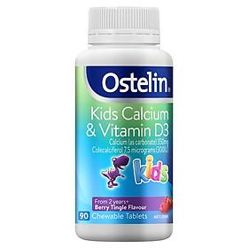 Viên kẹo bổ sung canxi và vitamin D thơm ngon Ostelin Ostelin Kids Calcium & Vitamin D3 nhập khẩu Úc 90 viên