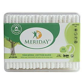 Tăm Bông Meriday Bông Bạch Tuyết TP158 (200 Que)