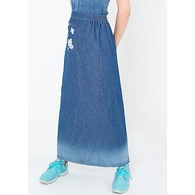 Váy Chống Nắng Jeans Thêu Họa Tiết Có Túi Loại Cao Cấp Màu Ngẫu nhiên