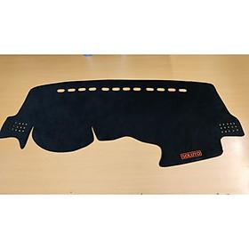 Thảm chống nóng taplo xe kia soluto thảm nhung 3 lớp  cách nhiệt đế cáo su chống trơn