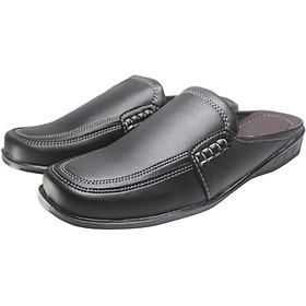 Dép giả giày mọi nam kiểu dáng công sở - đẹp lịch lãm - NMA-101-DEDE (Màu đen đế đen)