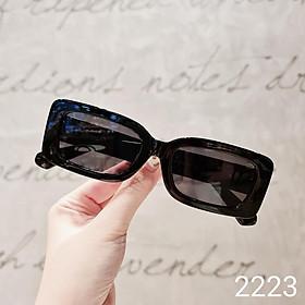 Kính mát, kính thời trang mắt vuông nhỏ 2223 chống UV400 Chilistore