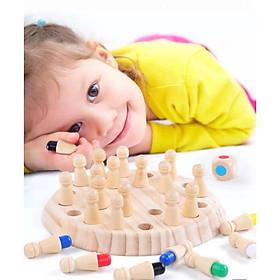 Cờ Rust Memory (cờ Luyện trí nhớ) 100% gỗ tự nhiên đặc chắc giúp con phát triển trí nhớ, nhận dạng màu sắc