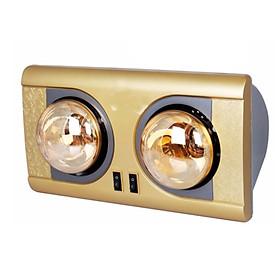 Đèn sưởi nhà tắm 2 bóng mạ vàng giảm chói