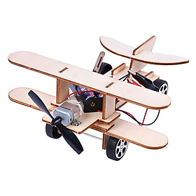 Bộ đồ chơi khoa học tự làm máy bay dạng tàu lượn bằng gỗ – DIY Wood Steam