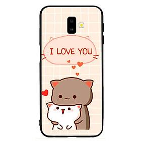 Ốp lưng viền TPU cho điện thoại Samsung Galaxy J6 Plus - I Love U