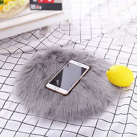 Tailored Soft Artificial Sheepskin Rug Chair Cover Artificial Wool Warm Hairy Carpet Gray