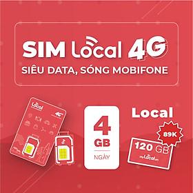 SIM 4G LOCAL Siêu Data - Gói cước LOCAL - 120GB/tháng Free tháng đầu - HÀNG CHÍNH HÃNG