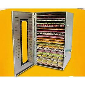 Máy sấy inox hoa quả thực phẩm 20 khay sấy - có điều chỉnh nhiệt và hẹn giờ- quạt đối lưu thông minh
