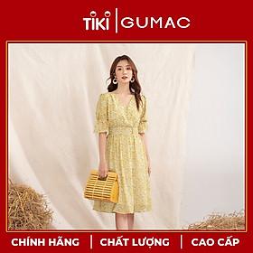 Đầm nữ GUMAC DA1029 thiết kế hoa eo nhún phong cách nhẹ nhàng