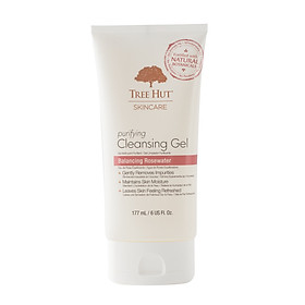 Gel Rửa Mặt TREE HUT SKINCARE PURIFYING CLEANSING GEL BALANCING ROSEWATER 177ml