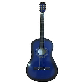Đàn Guitar acoustic GU02 màu xanh dương dáng D