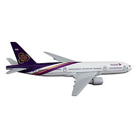 Mô Hình Máy Bay Trưng Bày Airbus Thai Airways Everfly (Trắng Tím)