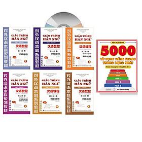 Combo trọn bộ giáo trình hán ngữ 6 quyển phiên bản bài khoá có thuyết minh tiếng việt (ngữ pháp có hổ trợ dịch tiếng Việt) +5000 từ vựng thông dụng nhất theo khung HSK1 đến HSK6