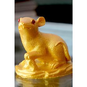 Một tượng con giáp sơn nhũ vàng