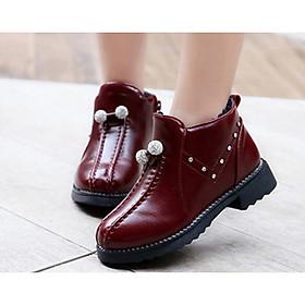 Giày boot ống bé gái châu pha lê SC005