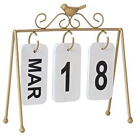 Lịch để bàn mini thiết kế dạng cài số sáng tạo, có thể tái sử dụng trong nhiều năm