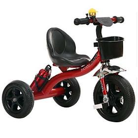 Xe ba bánh cho bé có bình nước và giỏ xe - giao màu ngẫu nhiên