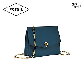 Túi đeo chéo nữ thời trang Fossil Stevie Small Crossbody ZB7882497 - màu xanh đậm