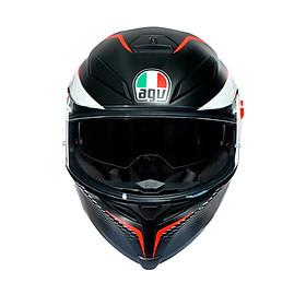 Nón Bảo Hiểm Fullface - AGV K5 S MATT BLACK/WHITE/RED - Hàng Nhập Khẩu Thương Hiệu Ý