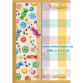 Vở kẻ ngang Wisdom - 120 trang; Klong 879 bìa nâu