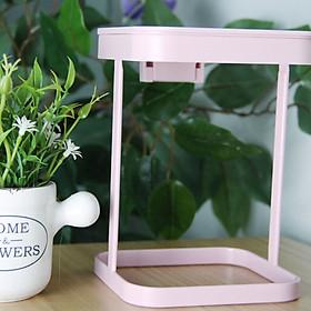 Mini Waste Bins Plastic Bucket Mini Flip Cover Counter Top Trash Can Desktop Dustbin Small Countertop Trash Can