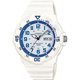 ĐỒNG HỒ CASIO MRW-200HC-7B2VDF Dây nhựa - Mặt số Màu trắng xanh
