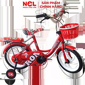Xe đạp trẻ em Nhựa Chợ Lớn 14 inch K82 - M1526-X2B, Sườn xe bằng sắt chịu lực, Nhựa chính phẩm an toàn, Sản xuất tại Việt Nam - Hàng chính hãng