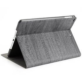 Bao da vân gỗ cao cấp dành cho iPad Mini 123/ Mini 4/ Ipad Air/ Ipad Air 2/ Ipad 234/ ipad 2017/ Ipad 2018/ ipad 10.2 inch - Hàng nhập khẩu - Thương hiệu PKCB