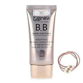 Kem lót nền trang điểm BB Hàn Quốc Benew Special Snail Cream (50ml) – Hàng Chính Hãng [ Tặng dây cột tóc - màu ngẫu nhiên ]