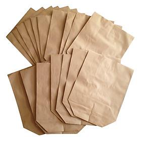 Bộ 100 Túi Giấy Xi Măng Gói Hàng Tiêu Chuẩn Giấy Kraf Loại Dày (25 x 15 cm)