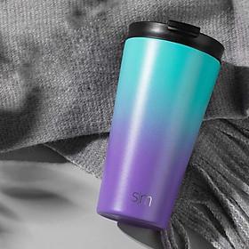 Ly giữ nhiệt Simple Modern 16oz (480ml), 2 lớp cách nhiệt inox 304 đúc nguyên khối, free BPA, giữ nhiệt 20 giờ, kèm 2 nắp chống tràn và 2 ống hút