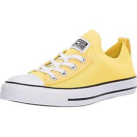 Converse Women's Chuck Taylor All Star Shoreline Knit Slip On Sneaker, White/Black/White, 9 M US