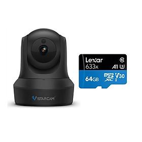 Camera Wifi IP Vstarcam C29s 2.0 - Full HD 1080p , Kèm thẻ nhớ 64GB A1 Lexar - Hàng chính hãng