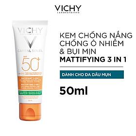 Kem Chống Nắng Vichy Chống Ô Nhiễm Và Bụi Mịn Hàng Ngày SPF50+ Chống Tia UVA UVB 50ml