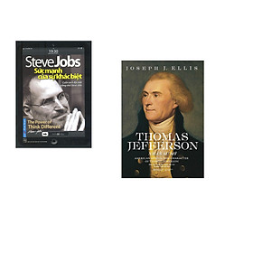 Combo 2 cuốn sách: Steve Jobs - Sức Mạnh Của Sự Khác Biệt + Thomas Jefferson - Nhân Sư Mỹ